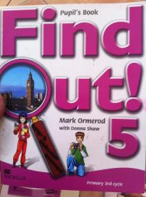 Find out! pupil´s book 5 portada